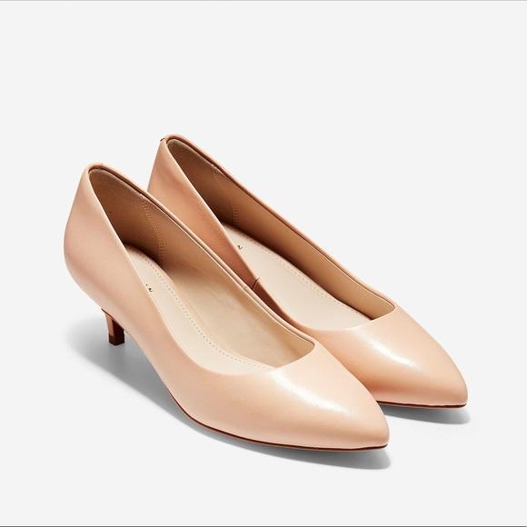 1dc933195 Cole Haan Shoes | Quincy Pump Heel 45mm Nude | Poshmark